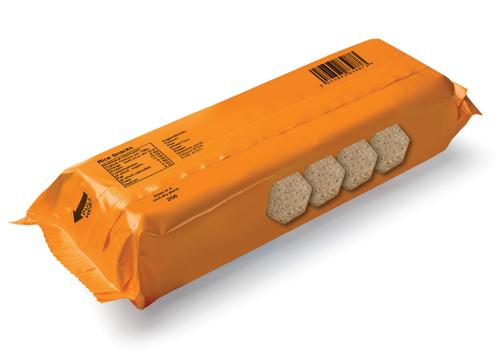 Marquage sur paquet de biscuit