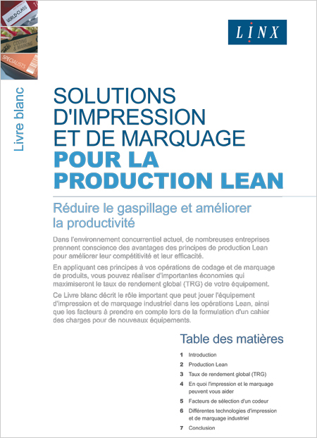 Livre Blanc Lean Production